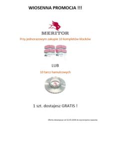 Części Meritor - promocja